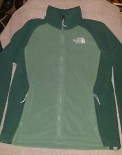 Woman's small The North Face dark green & light green zip down jacket / pullover