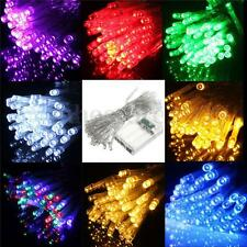 1-50M LED Battery/Solar Fairy String Light Outdoor Wedding Christmas Party Lamp