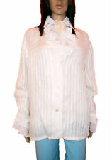 CAMILLA ARTHUR Milano Womens Vtg Casual Striped Linen Shirt Jacket sz 20 AL84