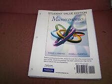 Microeconomics, Student Value Edition, 7th. INCOMPLETE, Pindyck, Rubinfeld