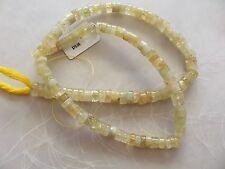 """15"""" Strand Natural Heliodor Gemstone Small Smooth Heishi Beads 4.5mm-6.5mm"""