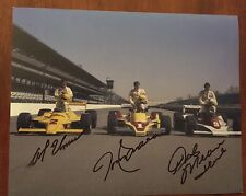 Rick Mears Sneva Al Unser Signed Indy 500 Front Row Indianapolis 8x10 Photo 1979