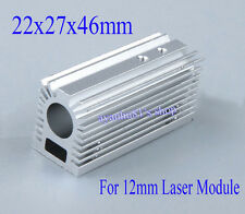 Aluminum Radiator Heatsink 22x27x46mm For 12mm Laser Module With Screws Silver