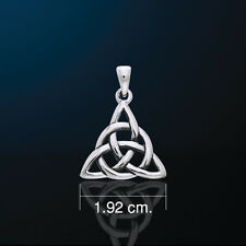 Lovely Small Charmed Symbol Trinity Triquetra Pendant in White Bronze