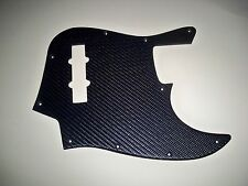 EMBOSSED CARBON FIBER FAUX LEATHER PICKGUARD FOR SQUIER STANDARD JAZZ BASS