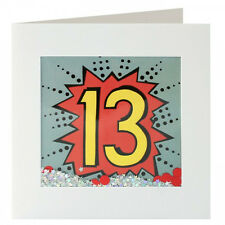13 Kapow Birthday Card - Brother, Sister, Son, Daughter, Friend, 13th, Thirteen