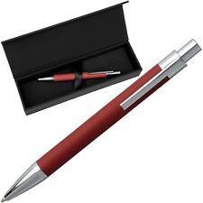 HUGO BOSS Kugelschreiber - SAFFIANO Rot - Pen Red Synthetic - inkl. Geschenk Box