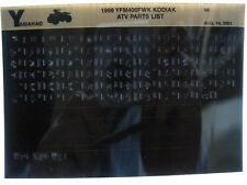 Yamaha YFM400 1998 Kodiac YFM400FWK Parts List Manual Microfiche s24