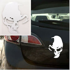 2X White Gas Grass or Ass Skull Ghost Vinyl Decal Sticker For Car Truck Window