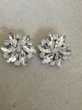 PURE CRYSTAL DIMANTE SHOE CLIPS / ACCESSORY / BRIDAL / WEDDING