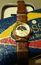 VINTAGE FOSSIL MOON-PHASE WOMAN'S QUARTZ Watch