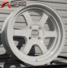 16X8 ROTA GRID V WHEELS 4X114.3 RIM +0 WHITE COLOR (SET OF 4 )
