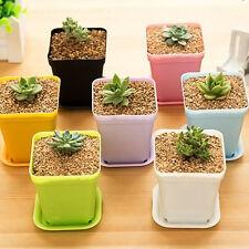 7pcs Mini Plastic Plant Flower Pot Home Office Decoration Nursery Garden