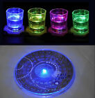 LED Light Color Changing Drink Glass Bottle Cup Coaster Mat Bar Party Xmas Gift