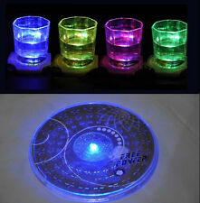 LED Light Color Changing Drink Glass Bottle Cup Coaster Mat Bar Party Gifts ..