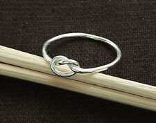 925 Sterling Silver  Love Knot Ring,  Delicate Ring ,Size 5 US