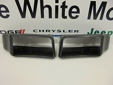 08-14 Dodge Challenger New Front Air Dam Duct Right & Left Black Mopar Oem