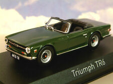 NOREV 1/43 DIECAST 1968-76 TRIUMPH TR6 IN ENGLISH (BRITISH RACING?) GREEN 350093