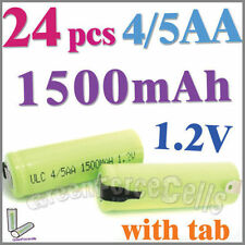 24 4/5 1500mAh AA NiMH 1.2V Rechargeable Battery w/ tab Green