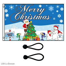 Christmas Flag.North Pole  5x3ft Poles Or Windsocks Poles.With FREE BALL TIES