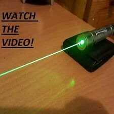 High Power Green Laser Pointer Pen Adjustable Focus Beam Wicked 532nm 1mw Lazer