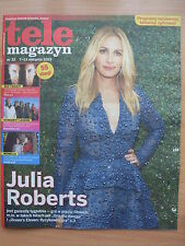 JULIA ROBERTS on front cover Polish Magazine TELE MAGAZYN 32/2015