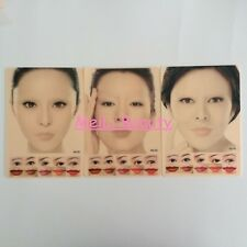 3Pcs Colorful Tattoo Permanent Makeup Lip Eyebrow Full Face Practice Fake Skin