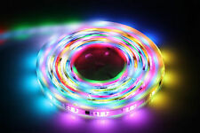 LED 5M RGB DIGITALE CACCIA FLEXIBLE STRIP NASTRO LIGHT + IR Remote + alimentatore