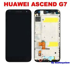 """DISPLAY LCD + TOUCH SCREEN+ COVER FRAME HUAWEI ASCEND G7 NERO VETRO 5,5"""" CORNICE"""