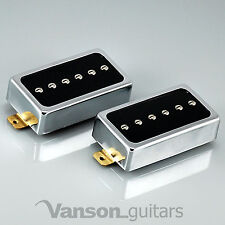 NEW Vanson AlNiCo V P90 SET, 'Humbucker size' Single Coil Pickups, HB90 CR N&B