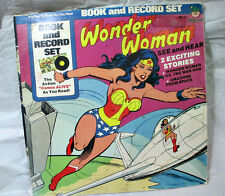 BOOK AND RECORD SET WONDER WOMAN SEE AND HEAR 2 EXCITING STORIES VINTAGE 1977 DC
