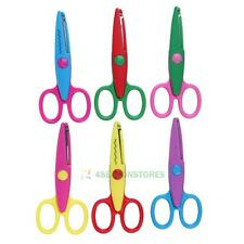 6 Shape Kids Children's Safety Scissors Various Cutting Patterns Curved Edges