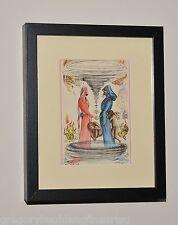 SALVADOR DALI Listed Artist GENUINE 1946 Color Print in MUSEUM BLACK FRAME #7