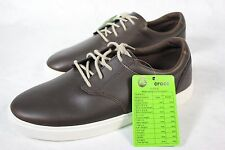 New Pair of Men's Crocs Citilane Leather Dark Brown Espresso Lace-up Shoes Sz 9M