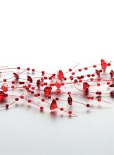 Spray Beaded Garland - Ruby Red - Perfect Decoration for Weddings or Holidays