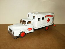 Ancien jouet tôle / vintage tin toy - AMBULANCE CHEVROLET friction - Japan - 50'