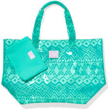 Victorias Secret Pink X Lg Clear Aztec Jelly Tote Beach Bag W/wallet Duffle NWT