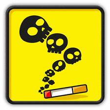 "Smoking Kills Warning Sign Funny Car Bumper Sticker Decal 5"" x 5"""