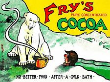 ADVERT DRINK COCOA POWDER POLAR BEAR ICE STEAM FOOD ART POSTER PRINT LV158