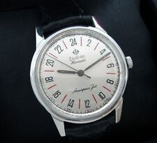 Men's 1960 Stainless Steel Zodiac Aerospace Jet with 24 Hour Dial - SERVICED