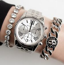 Original Michael Kors reloj fantastico mk5555 Lexington color: plata nuevo