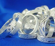 wholesale lots 10pcs MF 925 Silver Japan Rings Sz 8-11