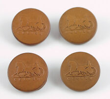 Celine Paris Button Vintage round leather molded design lot 4 pc 26mm