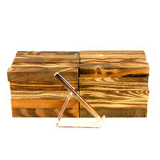 "Tigerwood Ebony (Jobillo) tropical pen blank turning square, 3/4"" x 3/4"" x 5"""