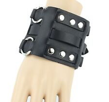 Bikers Rockers Leather Watch Band Bracelet Rivet Studded Punk Gothic