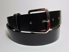 "Men 100% OIL TAN Genuine Leather Snap Buckle Black Belt Made in USA 42"" #1288B"