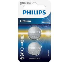 CR2032 Coin Battery Pack of 2 Philips 3V / for Watches Cameras Car Keys Torches
