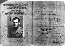 Old Photo.  WW2. Card - Release From German Concentration Camp
