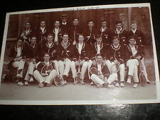 Old postcard Exeter University tennis team 1909 - 1910 all named