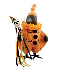 TJ5323 Fancy Crow and Skeleton Figure By Bethany Lowe Halloween Fall Spooky Bats